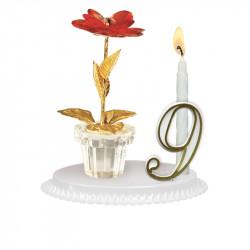 """Porte-bougies """"Adultes"""" : Pot de fleur"""