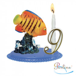 "Porte-bougies ""ANIMAUX"" : Poissons tropicaux"