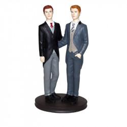 "Porte-bougies ""Mariage"" : Couple Homosexuel Homme"
