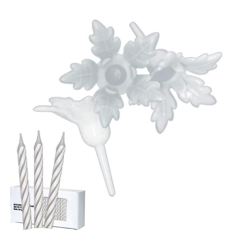 Bobèches Fleurs Blanches