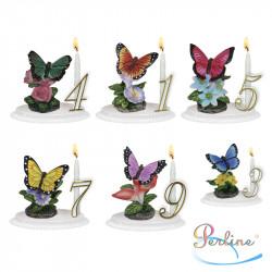"""Porte-bougies """"ANIMAUX"""" : Papillon sur branche"""