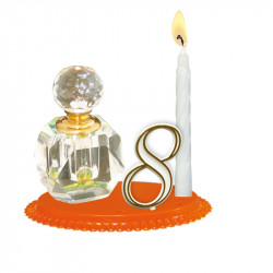 """Porte-bougies """"Adultes"""" : Flacon de Parfum"""