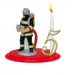 """Porte-bougies """"Véhicules et métiers"""" : Pompiers de Porcelaine"""