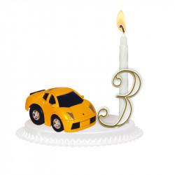 """Porte-bougies """"Véhicules et métiers"""" : Voiture miniature"""