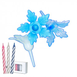 Bobèches Fleurs Bleues