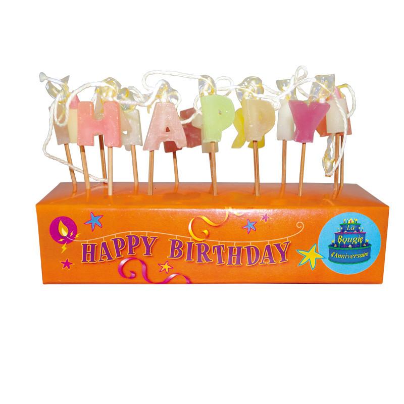 "Bougies éclair ""Happy birthday"""