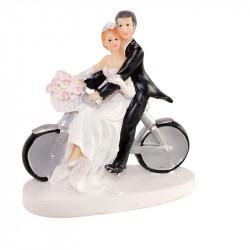 """Porte-bougies """"Mariage"""" : Mariés à vélo"""