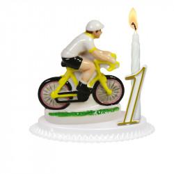 """Porte-bougies """"Sports et Loisirs"""" : Cyclisme Porcelaine"""